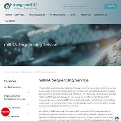 miRNA Sequencing Service - Creative Biogene IntegrateRNA