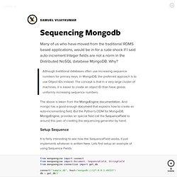 Sequencing Mongodb