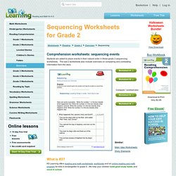 Sequencing Worksheets for Grade 2