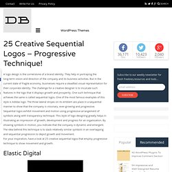 25 Creative Sequential Logos – Progressive Technique!