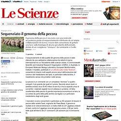 Sequenziato il genoma della pecora
