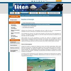 LITEN - Gestion d'énergie - Séquestration du CO2 en aquifères salins profonds