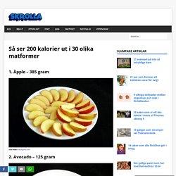 Så ser 200 kalorier ut i 30 olika matformer - Skrolla