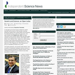 Seralini and Science: an Open Letter