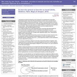 Du bien-être général au bien-être au travail (Achte, Delaflore, Fabre, Magny & Songeur, 2010) - Bloc notes de Jean Heutte : sérendipité, phronèsis et ataraxie sont les trois mamelles qui nourrissent l'Épicurien de la connaissance ;-)