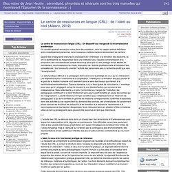 Le centre de ressources en langue (CRL) : de l'idéel au réel (Albero, 2010