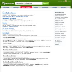 Serendipity in Science - Ask.com Search