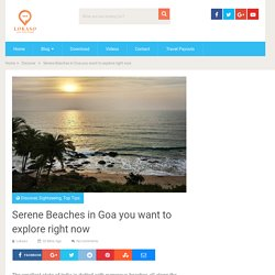 Serene Beaches in Goa you want to explore right now - Lokaso, your local friend