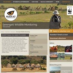 Serengeti Wildlife Monitoring - Wildlife ACT
