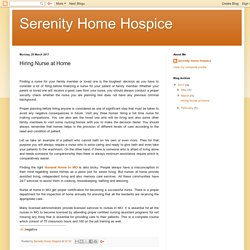 Serenity Home Hospice: Hiring Nurse at Home