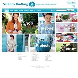 Serenity tricot de fil à tricoter, des accessoires, la qualité de la laine naturelle et fils