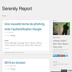 Serenity Report – l'Informatique Consciente