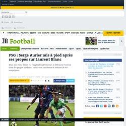 PSG : Serge Aurier mis à pied après ses propos sur Laurent Blanc