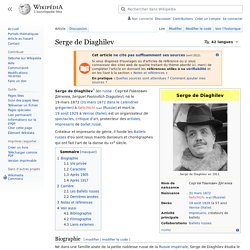 Serge de Diaghilev