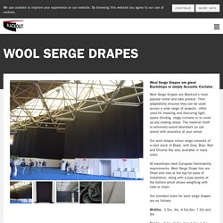 Wool Serge Drapes act as Acoustic Curtains + Black Stage Curtains