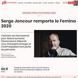 Serge Joncour remporte le Femina 2020...