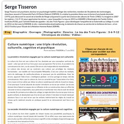 Serge Tisseron - Culture numérique : une triple révolution