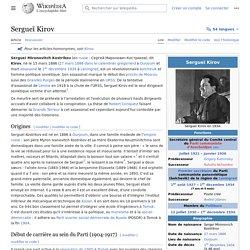 Sergueï Kirov