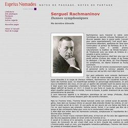 Sergueï Rachmaninov - espritsnomades.com