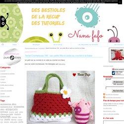 Serial Crocheteuse 164 : sac petite fille et cadre au crochet à la fraise