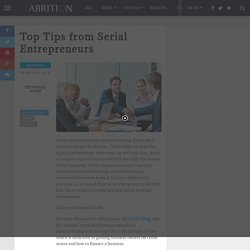 Top Tips from Serial Entrepreneurs - ABRITION