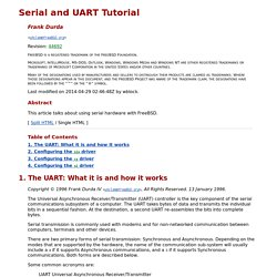 Serial and UART Tutorial