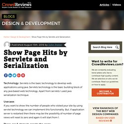 Show Page Hits by Servlets and Serialization - CrowdReviews.com Blog