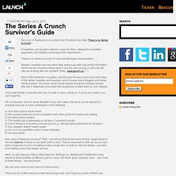 The Series A Crunch Survivor's Guide