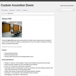 Series 2100 | Custom Accordion Doors