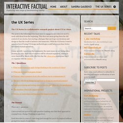 The UX Series: are UX and design thinking used enough in i-docs?