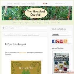The Spice Series: Fenugreek - The Homestead Garden