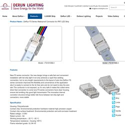 DeRun FS Series Waterproof Connector for IP67 LED Strip - DERUN LED