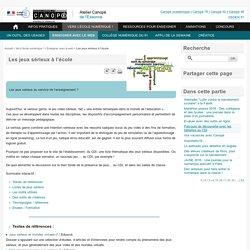 Les jeux sérieux à l'école - Atelier Canopé de l'Essonne