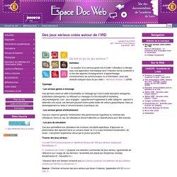 Des jeux sérieux créés autour de l'IRD - Espace Doc Web