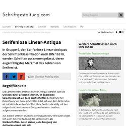 Serifenlose Linear-Antiqua nach DIN 16518