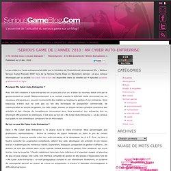Serious game de l'année 2010 : Ma Cyber Auto-Entreprise