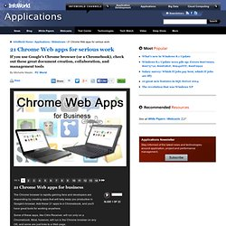 21 Chrome Web apps for serious work | Applications - InfoWorld