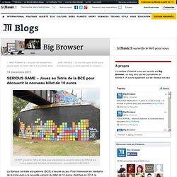 SERIOUS GAME – Jouez au Tetris de la BCE pour découvrir le nouveau billet de 10 euros