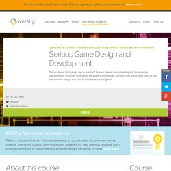 Serious Game Design - Open Online Course - iversity