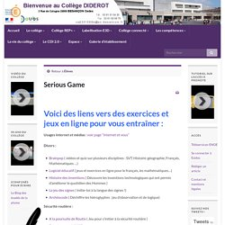 Serious Game » Collège Diderot