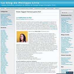 Serious game FLE « Le blog de Philippe Liria