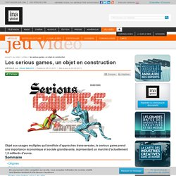 Video Games - Article - Serious games, A Subject in the Making