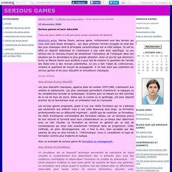 Serious games et jeux éducatifs - SERIOUS GAMES