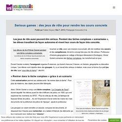 Serious games : des jeux de rôle pour rendre les cours concrets - VousNousIls