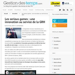 Les serious games : une innovation au service de la GRH -