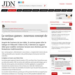 Le serious games : nouveau concept de formation par Sophie Richard-Lanneyrie - Chronique Solutions