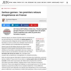Serious games : les premiers retours d'expérience en France