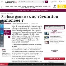 Serious games : une révolution annoncée ?