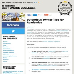 99 Serious Twitter Tips for Academics