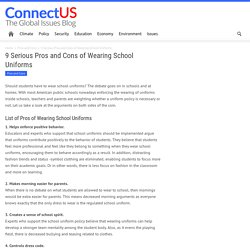 9 Serious Pros and Cons of Wearing School Uniforms